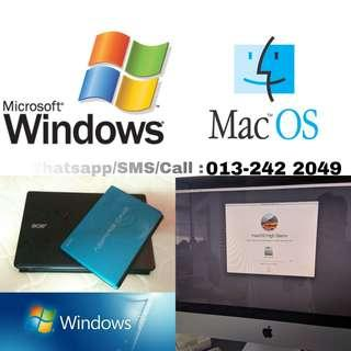 Format/Upgrade/Downgrade Laptop/ Netbook/ iMac/ Macbook/ Mobile Phone/ Window/Microsoft Activation