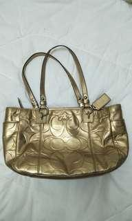 Coach Gallon Gold bag