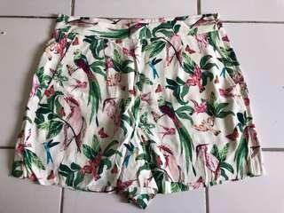 ANNTAYLOR celana pendek cewek motif burung