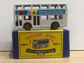 Matchbox MICA MB 17 Commemorative Bus