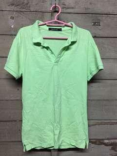 Apple green polo shirt