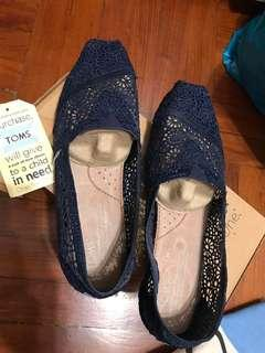 Toms Blue Lace Shoes