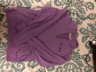 VS Pink half zip sweater