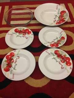 Pasta plate 1 set 20.00(FREE PIE BAKED PLATE)- never use