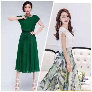 Woman's Dress in Chiffon BNWT- 2 Lovely set