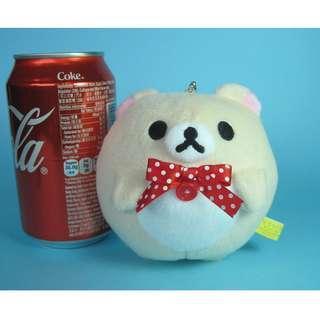 【X282】小白熊 小型 公仔吊飾  (約高 9cm)
