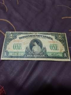 1917 *Princess Patricia Ramsey* Dominion Of Canada $1 Banknote