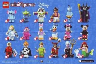 (全新)Lego 71012 Disney Series Minifigures 迪士尼 1套18款 已開袋確認