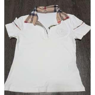 Clearance price! Burberry White Polo Children/Adult Tee