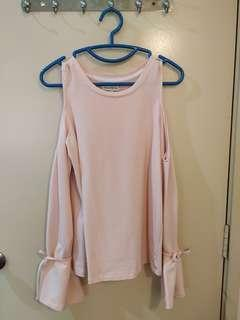 Pink Top with bell sleeves design #MFEB20