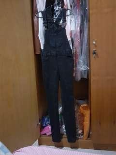newlook black jeans jumpsuit