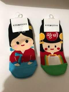 韓國卡通短襪x2