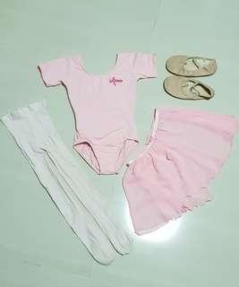 TruDance Ballet Top, Skirt, Legging, Sonata Dancewear Ballet Cardigan Set