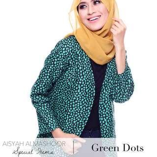 (Free Postage) Ezrana Blazer - Green Dots