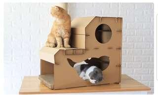 *INSTOCK* Deluxe Scratch House for Cats, kittens, not cat condo tree playground or cat bed cushion canopy tent