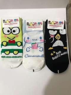 Sanrio characters socks x3