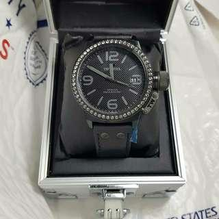 Authentic Original TW Steel Unisex Canteen Crystal 45mm Watch -black