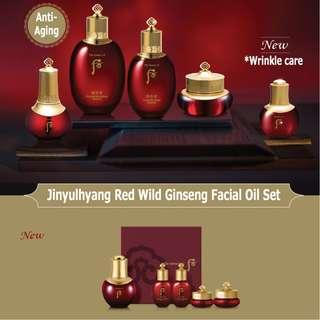 🚚 The History of Whoo Jinyulyang Red Wild Ginseng Facial Oil Special Set 2018