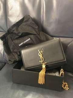 YSL Clutch monogramme Kate small leather shoulder bag