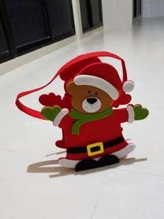 Santa Bear Bag