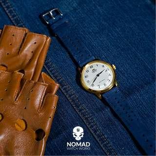 🚚 Premium Rally Suede Leather Watch Strap in Navy (Available in 22 and 24mm)