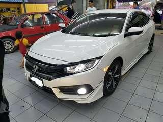 Honda Civic Fc Black Grill
