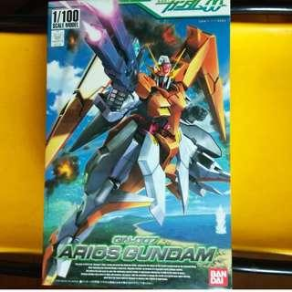 請看推廣優惠 可變戰機 BANDAI 全新未砌 1比100 墮天使 00 Arios Gundam GN-007 高達模型