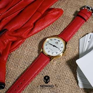 🚚 Saffiano Leather Watch Strap in Red (Available in 18 and 20mm)