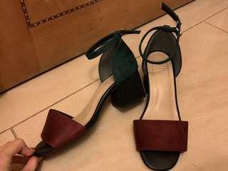全新 Brought in Japan high heals casual 露趾 高跟鞋 sexy