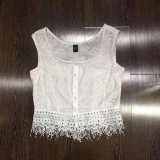 GG<5 GG5 White Lace Top