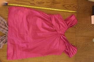 Moschino shocking pink dress