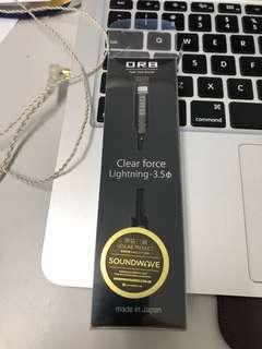 Orb clear force 3.5mm lightning iPhone X