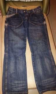 日本造型口袋牛仔褲,32~34腰都可,近全新