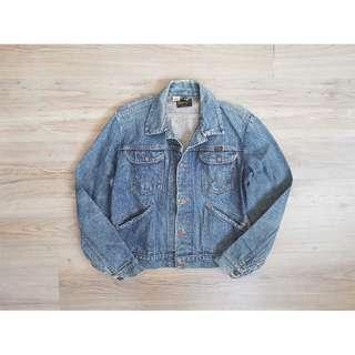 M號 Wrangler 美國製 藍哥 古著四口袋 自然磨損髒污 牛仔外套 二手 老品