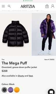 Mega puff Aritzia size xs brand new
