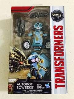 Brand New Transformers: The Last Knight Premier Edition Deluxe Autobot Sqweeks Original Authentic Hasbro Transformers Toy 18 Steps to Motorbike and toolkit