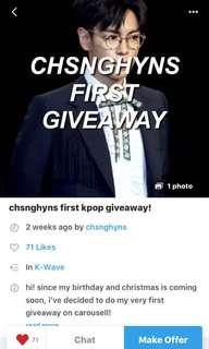 giveaway by @chsnghyns
