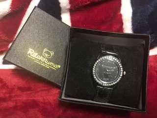 全新 絕版 鬆弛熊 拉鍊熊 Rilakkuma 真皮手錶 日本景品 (順豐到付)