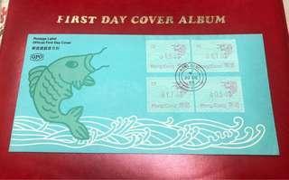 香港首個郵標鯉魚GPO一號印