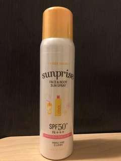 全新未開 Etude House sun spray SPF50+ PA+++