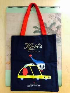 •••Xmas SALE••• Kiehl's x Bannecker limited edition tote bag