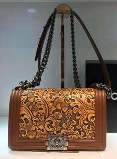Authentic Chanel Boy Paris Dallas Flap Bag