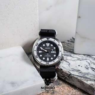 🚚 Heavy Duty Zulu Strap in Black (Available in 20, 22 and 24mm)