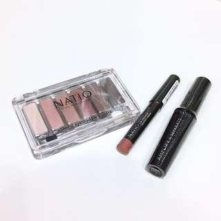 Natio 天然化妝品套裝 Make up Set ( 眼影盤、眼睫毛液、唇膏筆)聖誕禮物