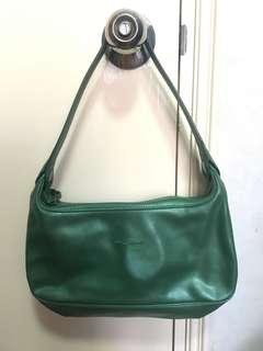 🈹💚Longchamp green leather bag vintage style