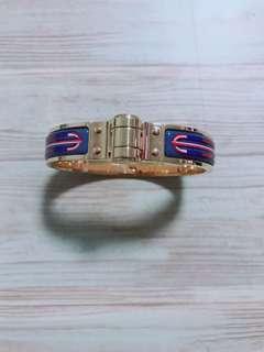 Hermes coloured hinged bracelet