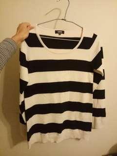 🚚 OZOC 黑白針織毛衣