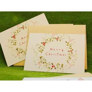 Christmas Wreath Post Card