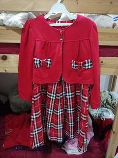 🚚 二手套裝式小孩洋裝#半價衣物市集