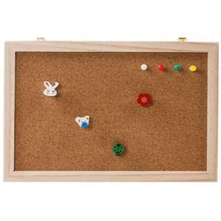 Natural Wood Frame Cork Bulletin Board Office Supplier 20*30cm Home Decorative